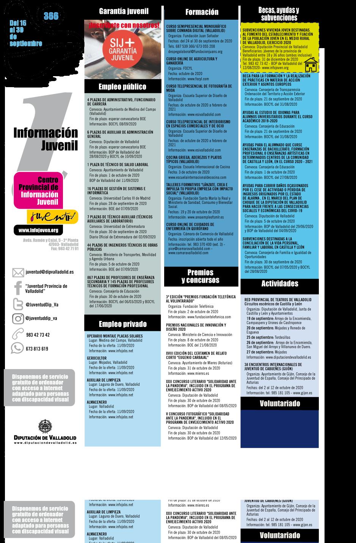 Cartel informativo desplegado